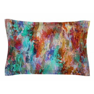 Ebi Emporium The Nexus 1, Orange Aqua Painting Sham Size: Queen