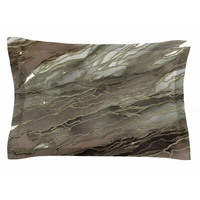Ebi Emporium Agate Magic, Elegance 1 Watercolor Sham Size: King