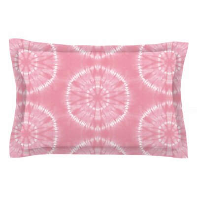 Jacqueline Milton Shibori Circles Mixed Media Sham Size: Queen, Color: Pink/Pastel