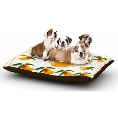 Famenxt Fresh Farm Mangoes Dog Pillow with Fleece Cozy Top
