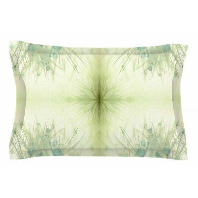 Ginkelmier Dandelion Dreams in Blue Abstract Sham Size: Queen