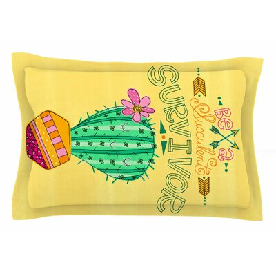 Jane Smith Be a Succulent Survivor Illustration Sham Size: Queen
