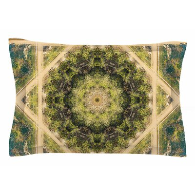 Nick Nareshni Forest Green Mandala Geometric Sham Size: Queen