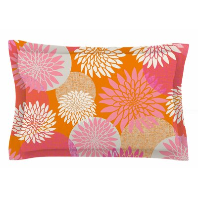 Jacqueline Milton Flower Power Illustration Sham Size: Queen