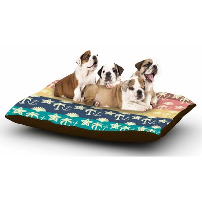Famenxt Beach and Fun Dog Pillow with Fleece Cozy Top