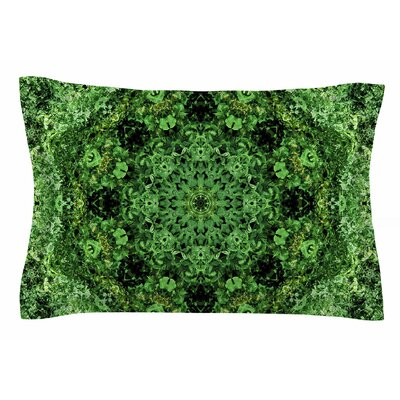 Nick Nareshni Green Forest Mandala Geometric Sham Size: Queen