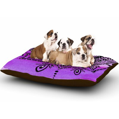 Li Zamperini Lilac Mandala Dog Pillow with Fleece Cozy Top