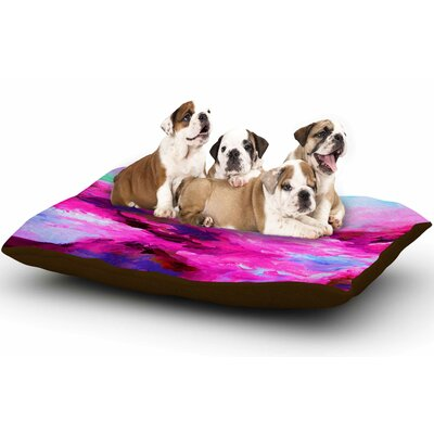 Ebi Emporium Taken by the Undertow 4 Magenta Dog Pillow with Fleece Cozy Top