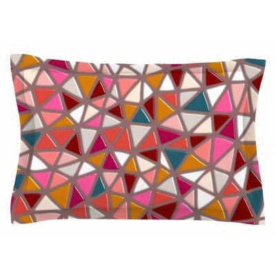 Pallerina Design Geo Mosaic Tile Geometric Sham Size: Queen