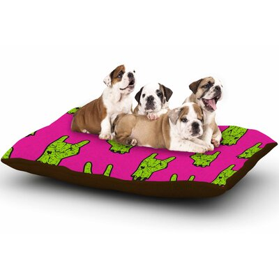 Zombie Rock Magenta Dog Pillow with Fleece Cozy Top