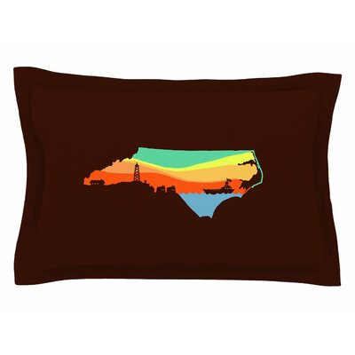 BarmalisiRTB North Carolina Digital Sham Size: 20 H x 30 W x 1 D