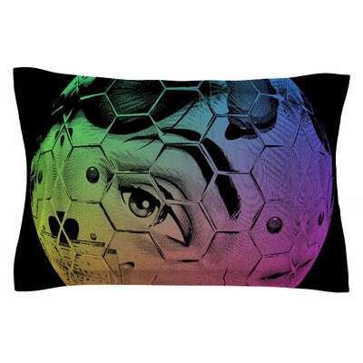 Roberlan HEX Eye Decimal Abstract Pop Art Sham Size: 20 H x 40 W x 0.25 D