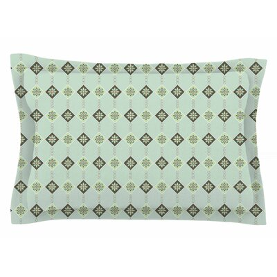 Afe Images Triangles and Flowers Illustration Sham Size: Queen