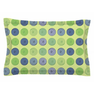 Afe Images Blue and Green Spheres Illustration Sham Size: 20 H x 40 W x 0.25 D