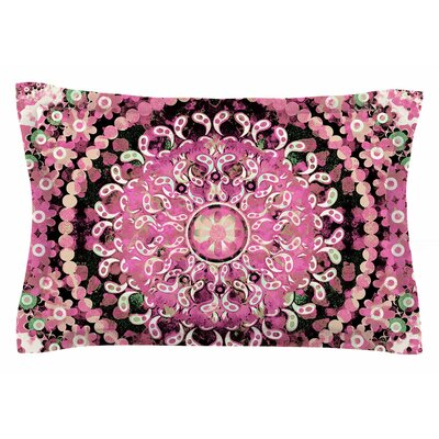 Nina May Pink Mosaic Mandala Illustration Sham Size: Queen