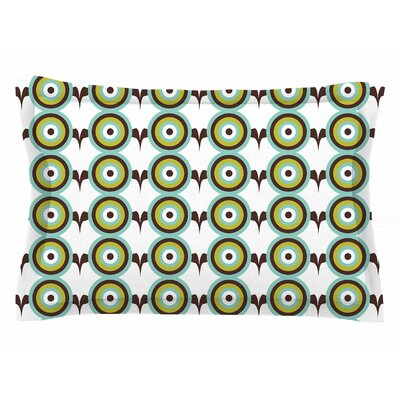 Afe Images Retro Circles Illustration Sham Size: Queen