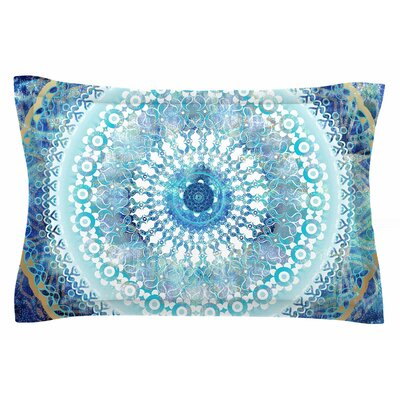 Nina May Ornate Boho Mandala Mixed Media Sham Size: Queen