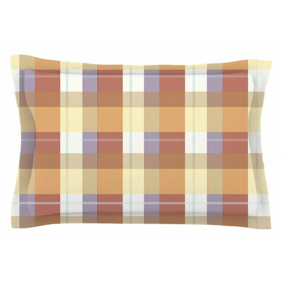 Afe Images Brown Plaid Illustration Sham Size: King