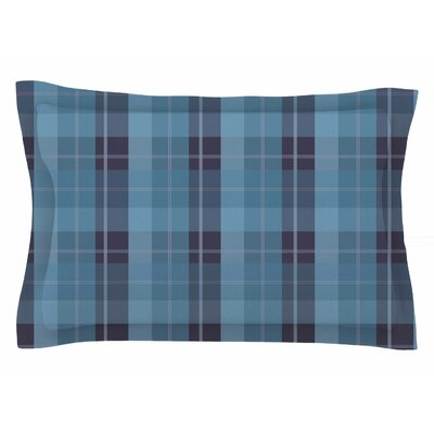 Afe Images Blue Plaid II Illustration Sham Size: King