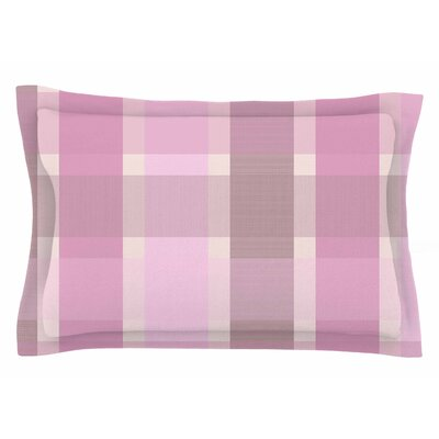 Afe Images Pastel Plaid Illustration Sham Size: Queen