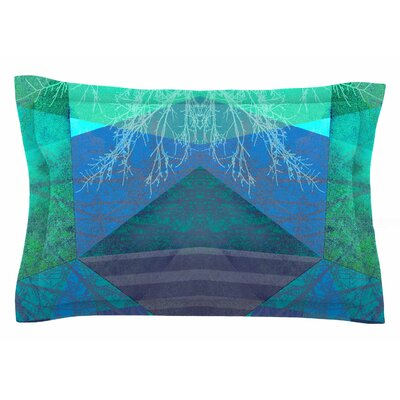 Pia Schneider Turquoise Blue - 19A Mixed Media Sham Size: King