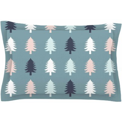 Afe Images Christmas Tree Silhouettes Digital Sham Size: Queen