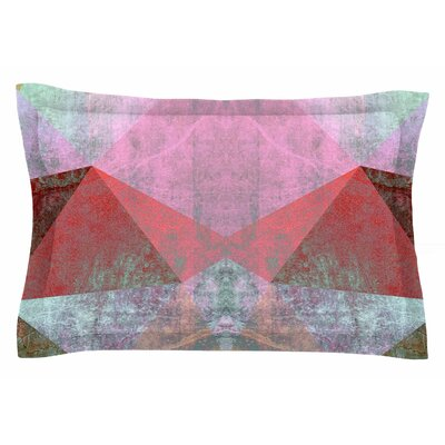 Pia Schneider Polygon Diamond I Mixed Media Sham Size: Queen