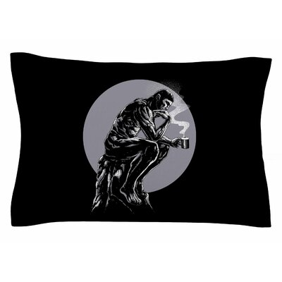 BarmalisiRTB The Thinker Coffee Digital Sham Size: King
