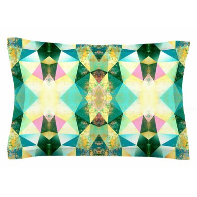 Pia Schneider 'Polygon Diamond II' Mixed Media Sham Size: Queen