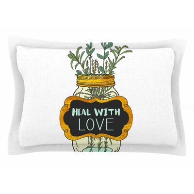 Pom Graphic Design Heal with Love Illustration Sham Size: Queen