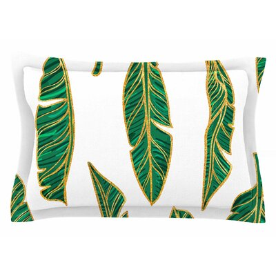 83 Oranges Banana Leaf Gold Digital Sham Size: Queen