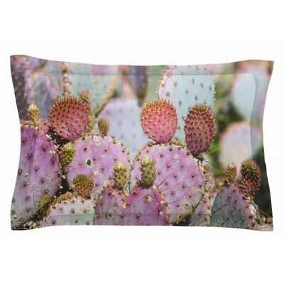 Ann Barnes Cotton Candy Cacti Sham Size: Queen