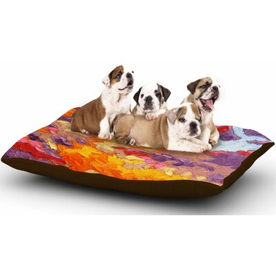 Jeff Ferst Evening Multicolor Sky Sunset Sky Dog Pillow with Fleece Cozy Top Size: Large (50 W x 40 D x 8 H)
