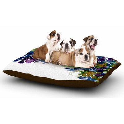 Ebi Emporium Floral Cascade 4 Dog Pillow with Fleece Cozy Top