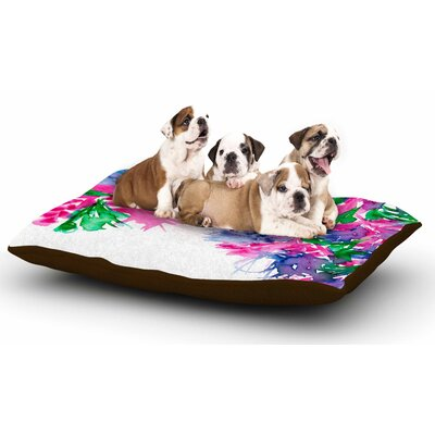 Ebi Emporium Floral Cascade 1 Dog Pillow with Fleece Cozy Top
