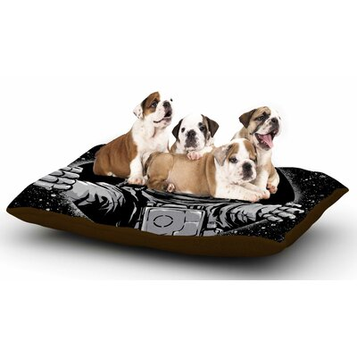 Digital Carbine Black Hole Fantasy Digital Dog Pillow with Fleece Cozy Top