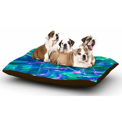 Ebi Emporium Motley Flow 5 Dog Pillow with Fleece Cozy Top