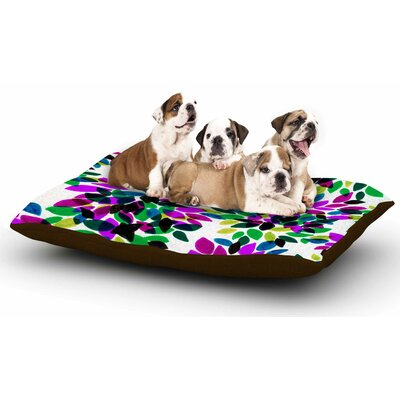 Ebi Emporium Dahlia Dots 2 Dog Pillow with Fleece Cozy Top