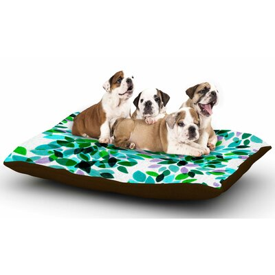 Ebi Emporium Dahlia Dots 7 Dog Pillow with Fleece Cozy Top