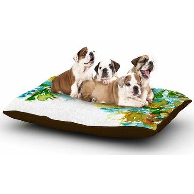 Ebi Emporium Floral Cascade 9 Dog Pillow with Fleece Cozy Top