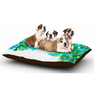 Ebi Emporium Floral Cascade 8 Dog Pillow with Fleece Cozy Top