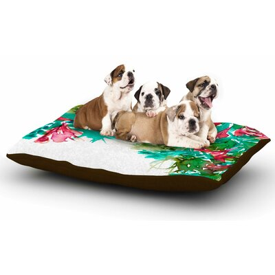 Ebi Emporium Floral Cascade 7 Dog Pillow with Fleece Cozy Top