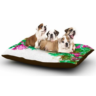 Ebi Emporium Floral Cascade 6 Dog Pillow with Fleece Cozy Top