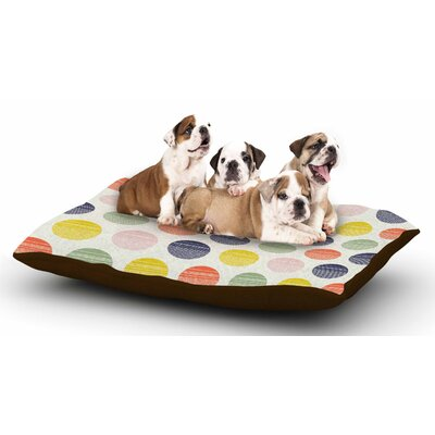 Gukuuki Rainbow Dots Vector Dog Pillow with Fleece Cozy Top