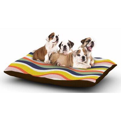 Gukuuki Rainbow Stripes Stripe Dog Pillow with Fleece Cozy Top