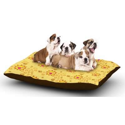 Jane Smith Its All Sunshine Dog Pillow with Fleece Cozy Top