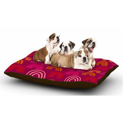 Jane Smith Its All Rainbow Magenta Dog Pillow with Fleece Cozy Top