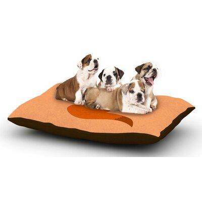 NL Designs Fox Digital Dog Pillow with Fleece Cozy Top