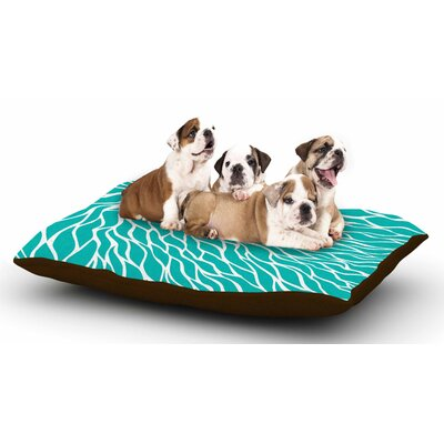 NL Designs Swirls Tiffany Dog Pillow with Fleece Cozy Top