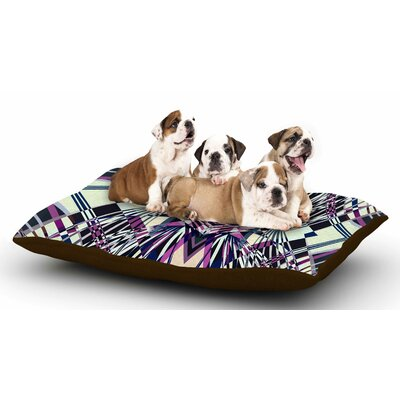 Pia Schneider Sweeping Line I-E4C Geometric Dog Pillow with Fleece Cozy Top